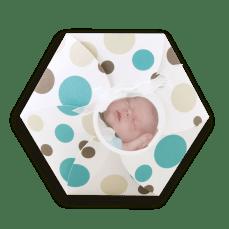 faire-part-naissance-ronds-turquoise-taupe-hexagonal-cn-845