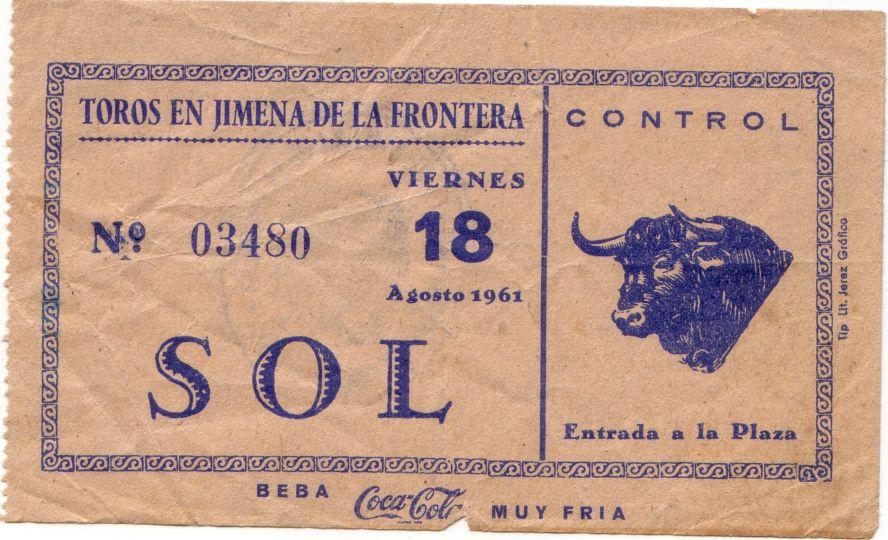 Las entradas que ya no se pudieron usar. 18 de agosto de 1961
