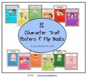 Character Trait Posters and Flip Books
