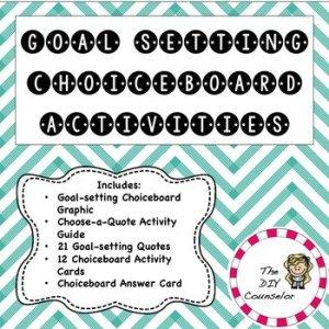 Choice Board Goal Setting Activity Set