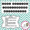 Choice Board Goal Setting Activity Set