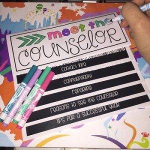 Meet the Counselor Flip'nColor Book Editable!