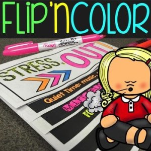 Stress Reduction Flip'nColor Foldable