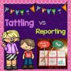 Tattling vs Reporting File Folder Sorting Activity