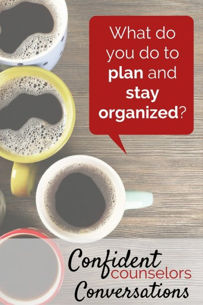 School counselors need to plan and stay organized to be effective.