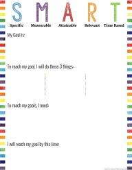 SMART Goal Brainstorm Sheet
