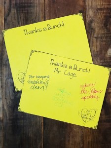 Thanks a Bunch Note Cards to recognize staff and say thank you.