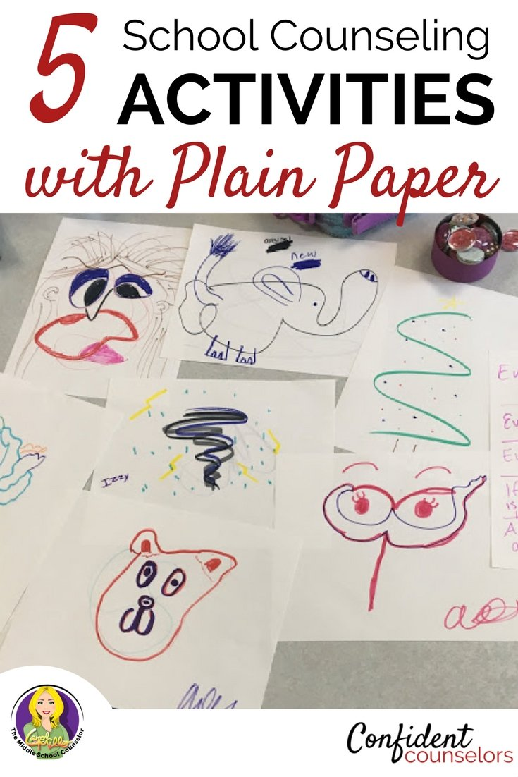 5 ways to use plain paper in school counseling. simple counseling activities using plain paper makes it simple to work with students quickly.
