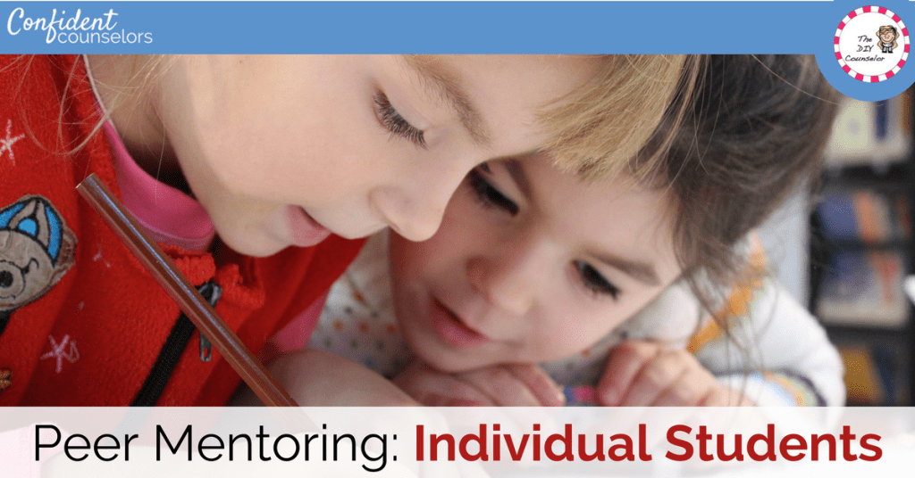 Peer mentoring as part of your school counseling program. Consider your school's needs.