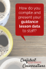 Presenting guidance lesson data to teachers and administration is a great way for school counselors to share the effectiveness of their counseling programs.