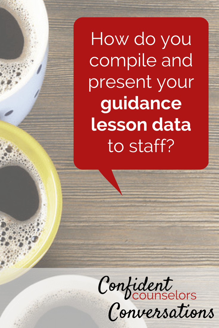 Presenting guidance data to teachers and administration is a great way for school counselors to share the effectiveness of their counseling programs.