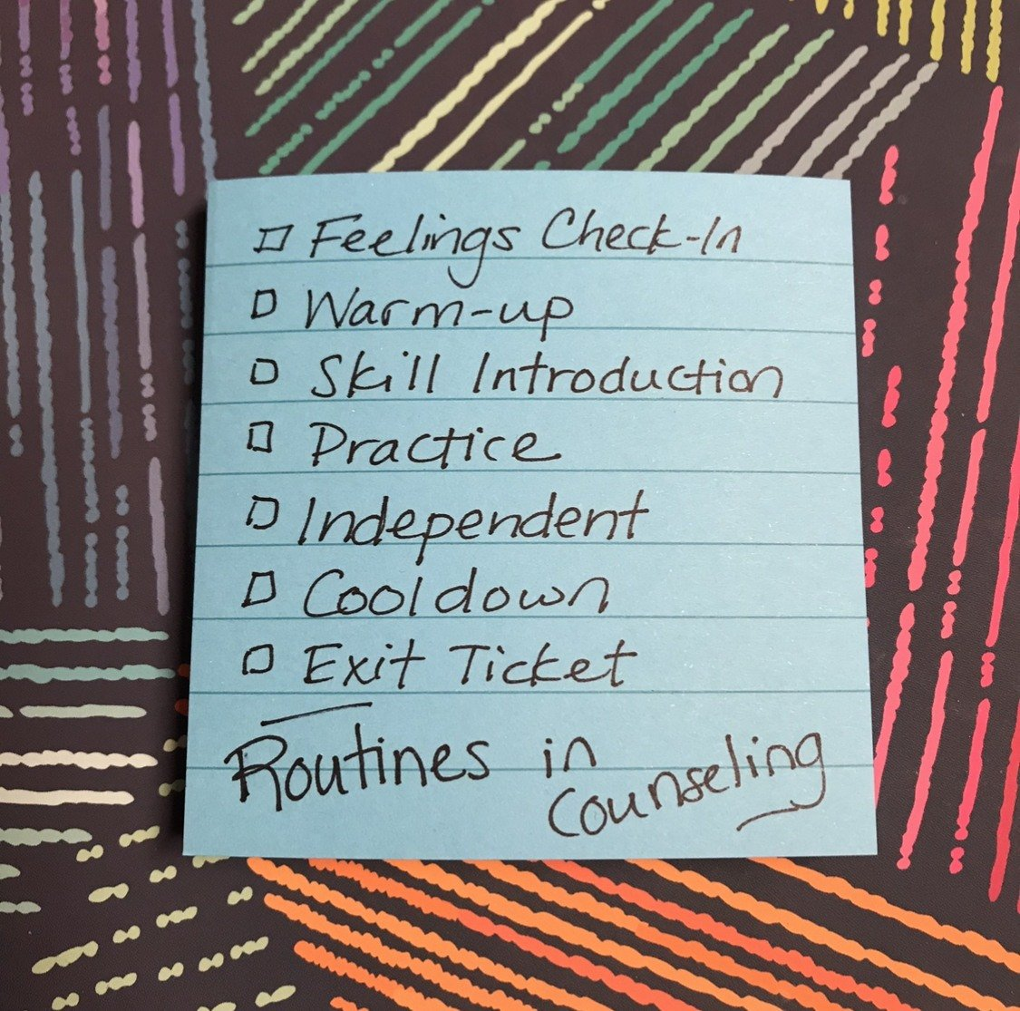 Routines in Counseling