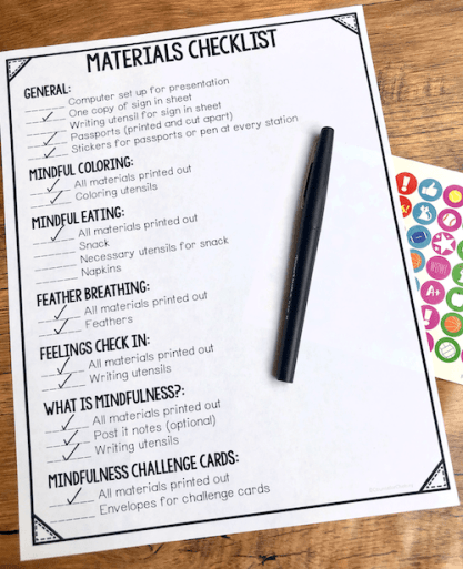 Creating a checklist of materials you need is a great way to stay organized before the event.
