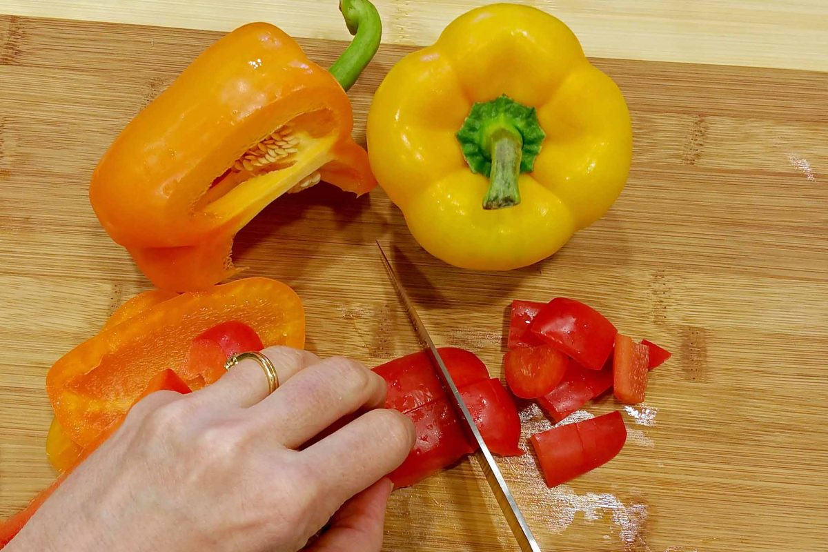 Cubing Cubed Bell Peppers
