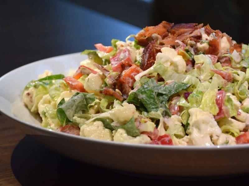 Bacon Cauliflower Salad Recipe-Confident in the Kitchen-Jean Miller