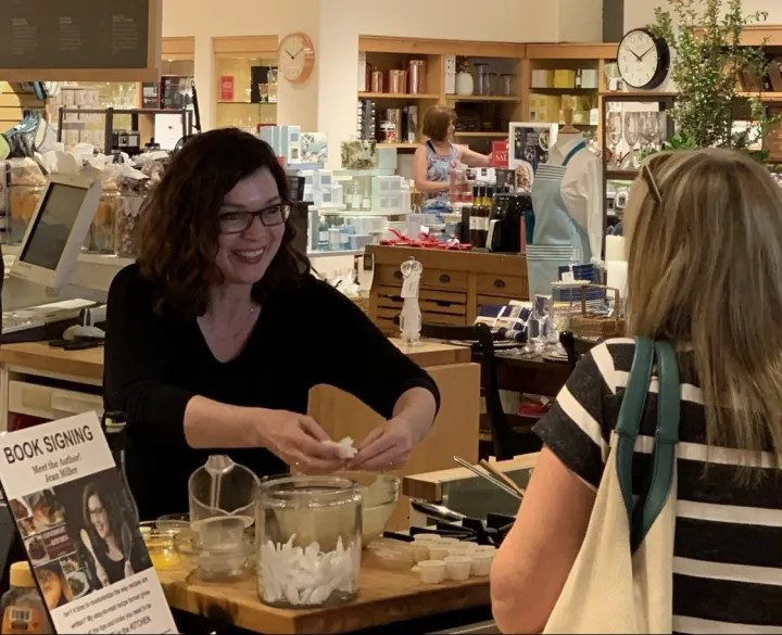 Greeting the Day-Jean Miller at Cookbook Signing at Williams-Sonoma's