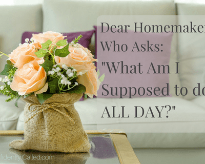 """Dear Homemaker Who Asks: """"What Am I Supposed to do All Day?"""""""