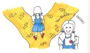Dorothy and yellow brick road illustr 001