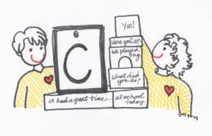 Elements...skilled communicator illust by Jennifer Miller