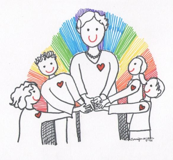 Louise Gomer Bangel with children Illustr by Jennifer Miller