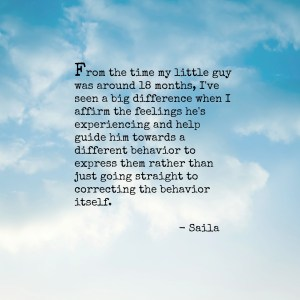 Saila on affirming feelings