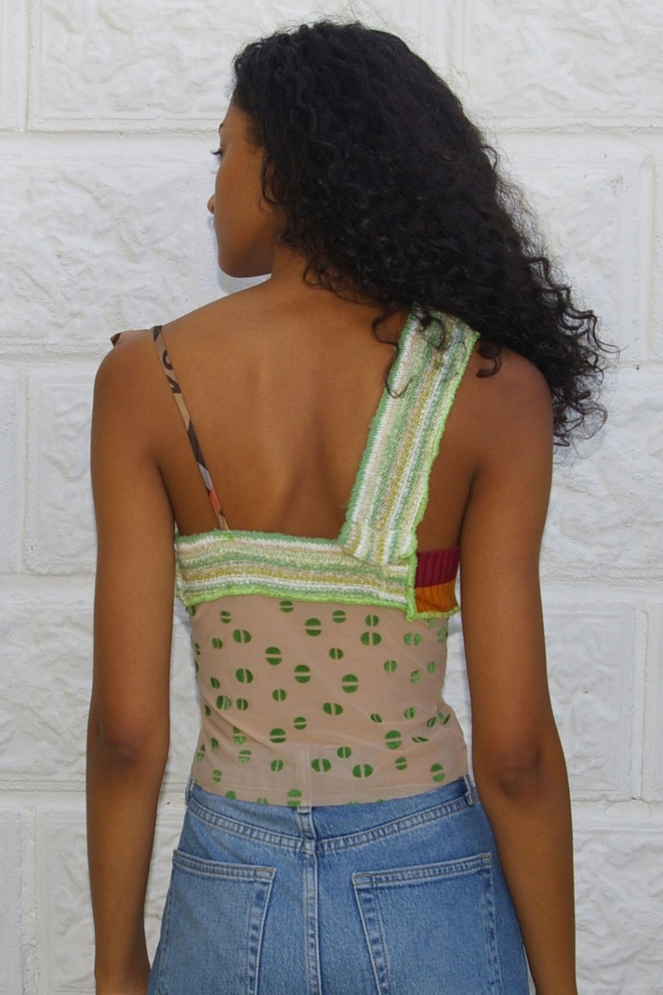 Collage One Shoulder Top