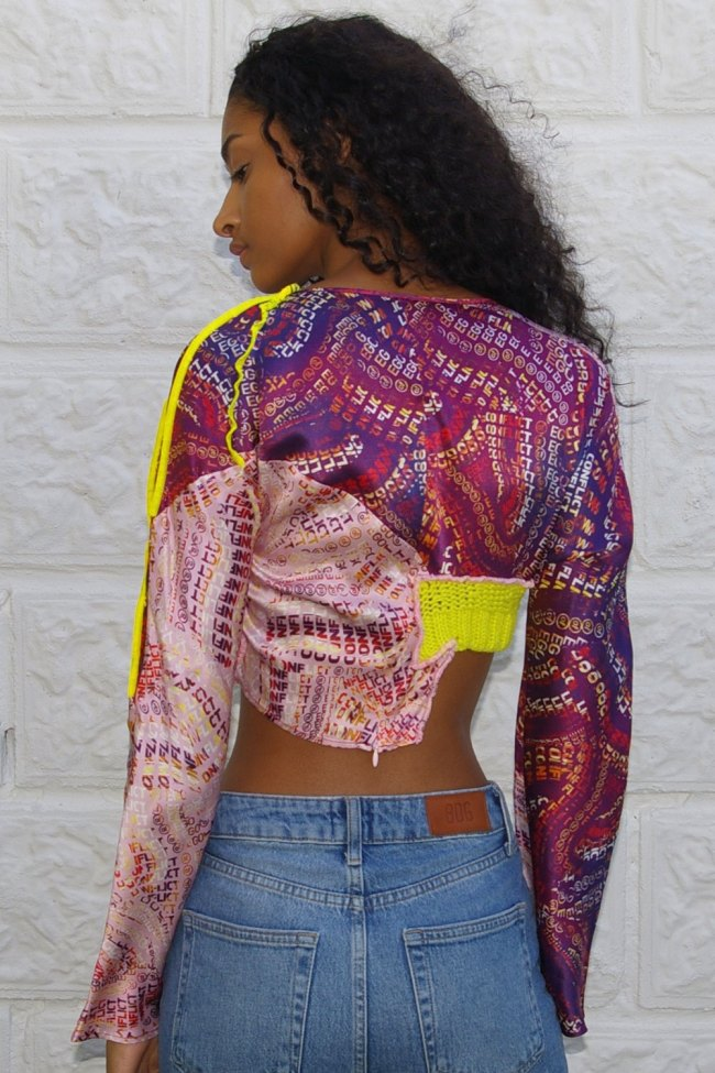 Abstract Mix Print Top