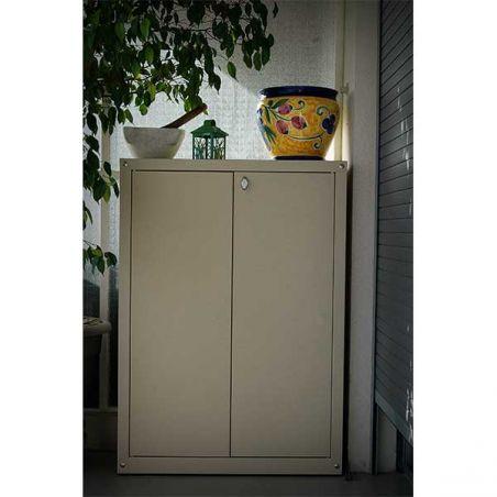 armoire metallique pour balcon et jardin 120 100 cm