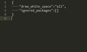 Sublime text3でスペース、タブを表示する
