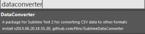 Sublime text3でCSVを変換する