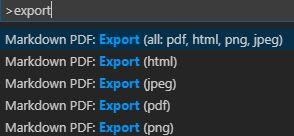 VS CodeのMarkdown PDFプラグインでpdfやhtml出力する方法