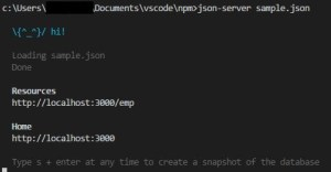 node.js でJSONを返すWebAPI モックを作成する方法