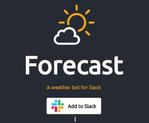 Slackで天気予報を見る方法