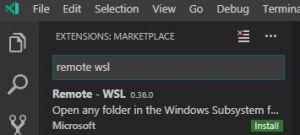 VSCodeのRemote WSLでWindows Subsystem for Linuxに接続する方法