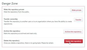 GitHubでリポジトリを削除する方法