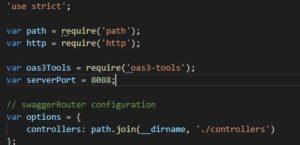 Swagger Editor Generate Server(nodejs-server)