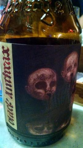 Detalhe do rótulo da Black Anthrax