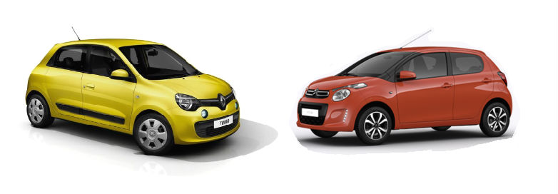 Citroen C1 e Renault Twingo a Confronto