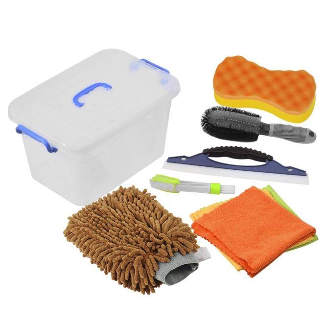 kit spazzole lavaggio auto