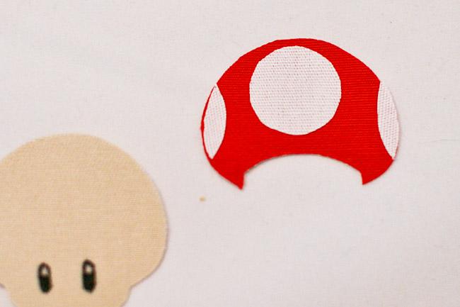 Fuse white spots to mushroom cap