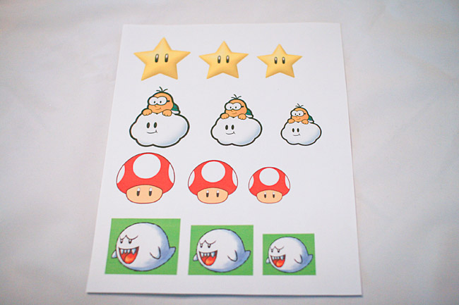 Printout of different patch sizes