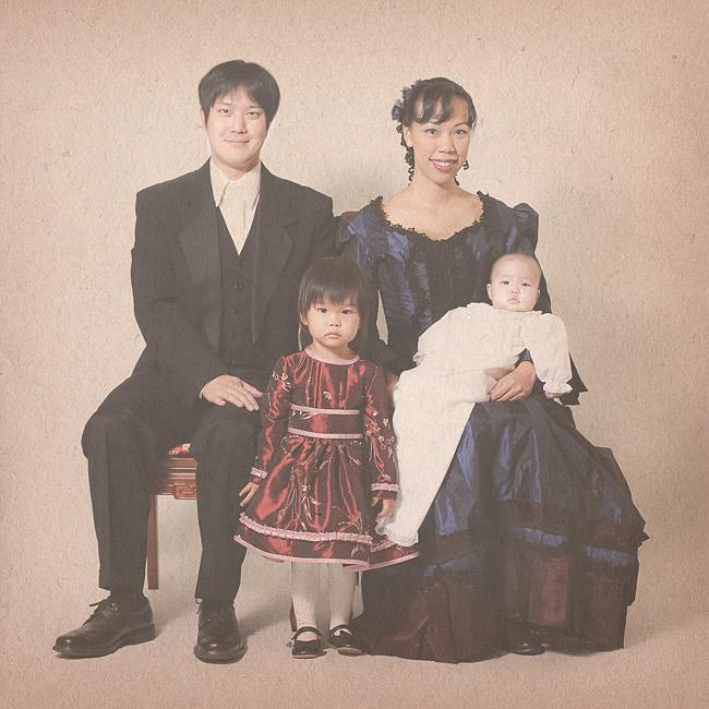 vintage victorian family photo