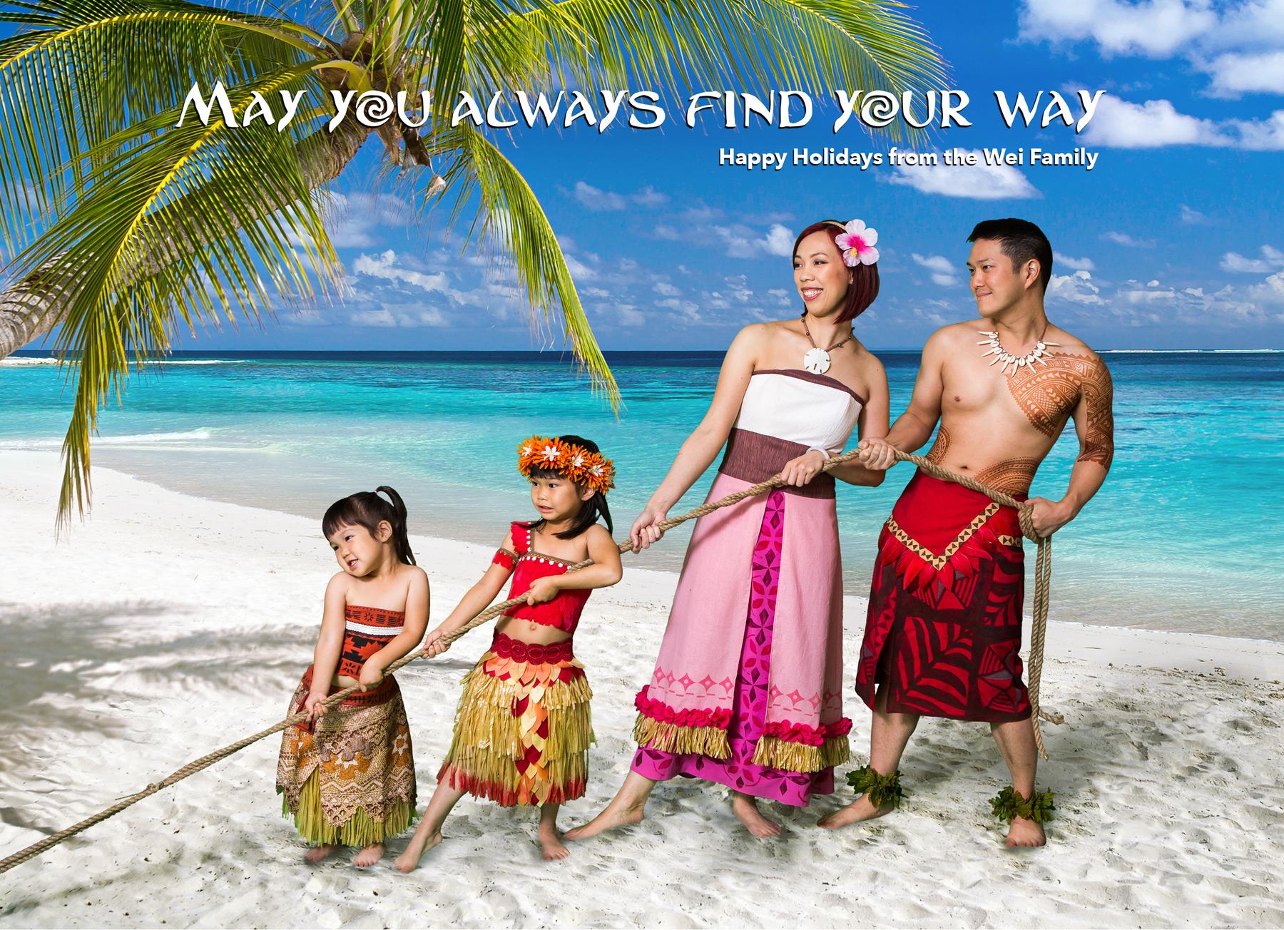 Moana Holiday Card