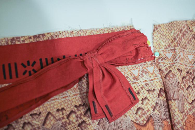 moana costume skirt tutorial