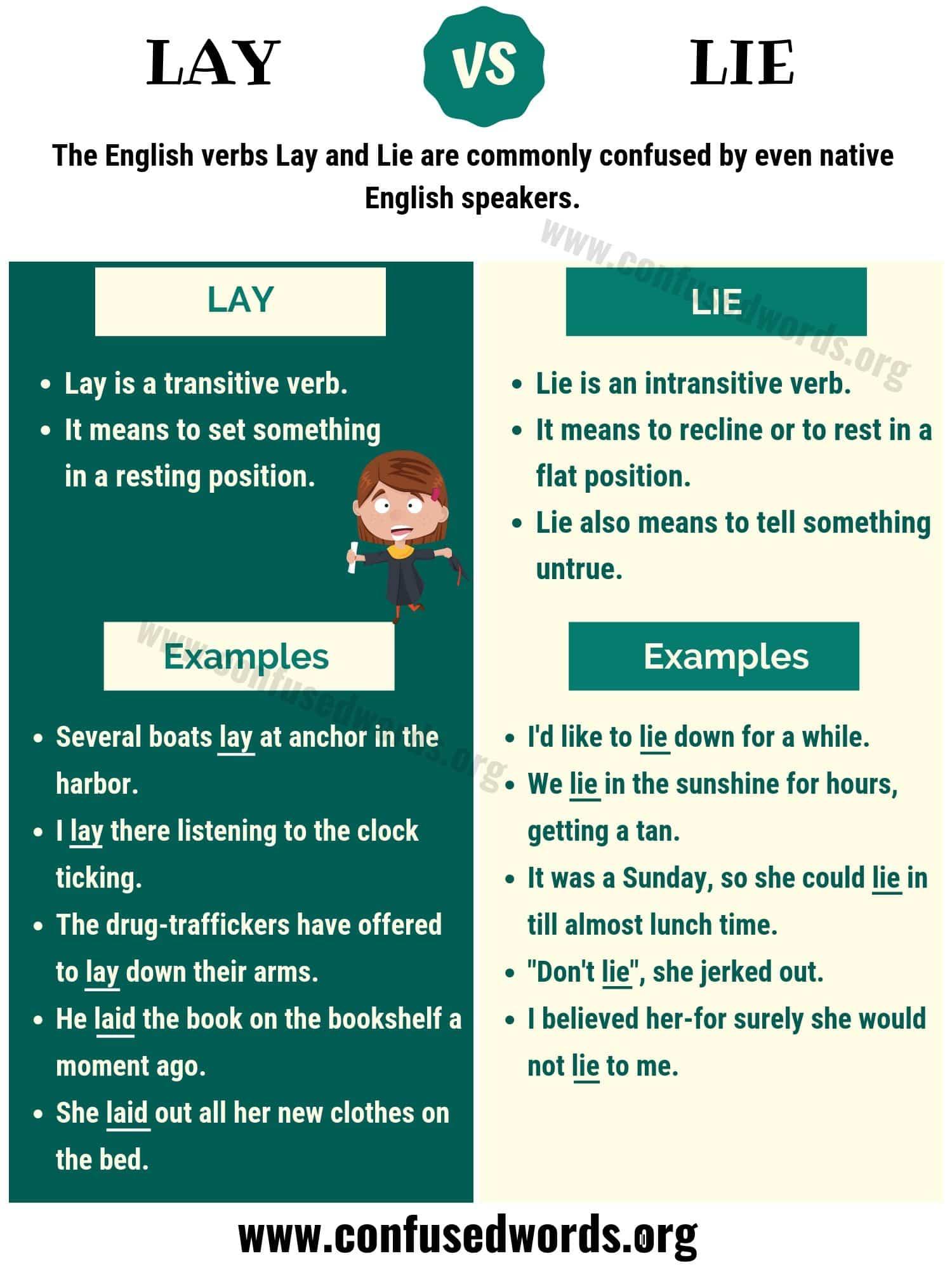 Lay Vs Lie How To Use Lie Vs Lay Correctly