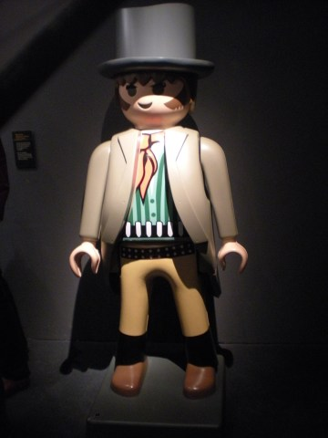 A giant Playmobil figurine