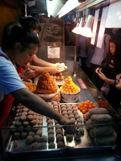 The making of the Taro balls