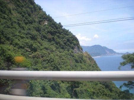 Driving along Taiwan's east coast