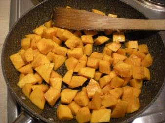 pumpkin frying