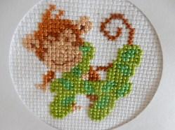 Monkey cross stitch H
